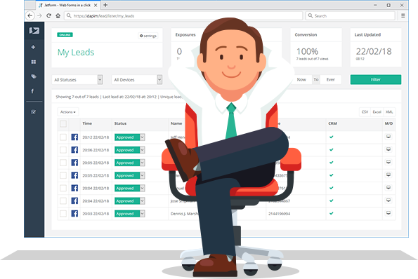 Hover Lead - Leads Management and Integrations